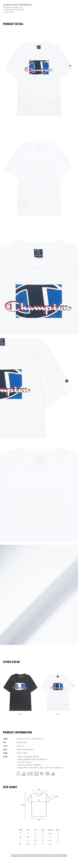 챔피온 유럽(CHAMPION EU) [EU] 멀티 로고 쉐도우 그래픽 반팔 티셔츠 (WHITE) CKTS1E242WT